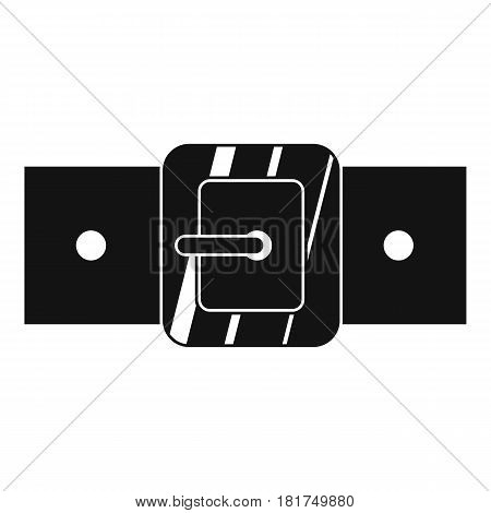 Square belt buckle icon. Simple illustration of square belt buckle vector icon for web