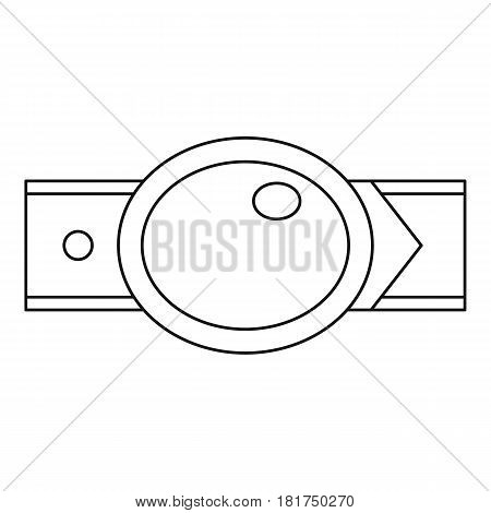 Oval shaped buckle icon. Outline illustration of oval shaped buckle vector icon for web