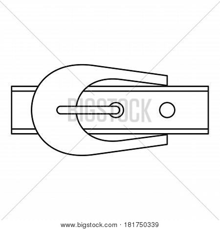 Narrow belt with buckle icon. Outline illustration of narrow belt with buckle vector icon for web
