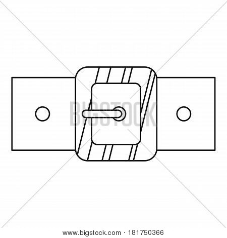 Small square buckle icon. Outline illustration of small square buckle vector icon for web