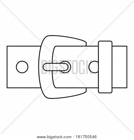 Leather belt icon. Outline illustration of leather belt vector icon for web