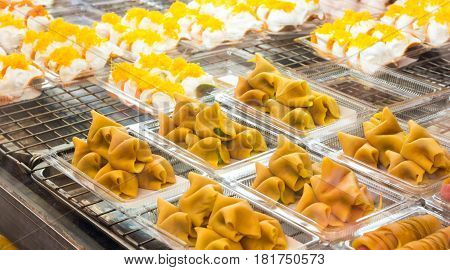 Pancake Thai food or Thai Style Crisp Tart , (Khanom Beaung).
