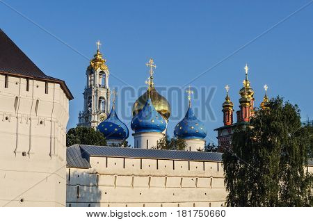 Trinity Sergius Lavra in Sergiev Posad Russia. UNESCO World Heritage Site. Golden Ring of Russia.