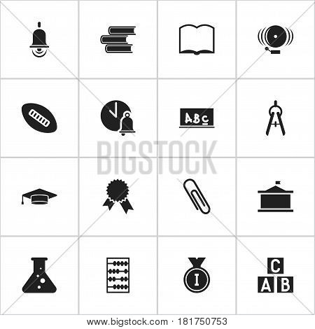Set Of 16 Editable Science Icons. Includes Symbols Such As Alphabet Cube, Ring, Math Tool And More. Can Be Used For Web, Mobile, UI And Infographic Design.