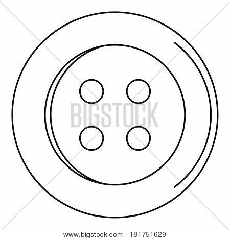 Sewing button icon. Outline illustration of sewing button vector icon for web