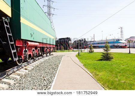 Photo of Russian rail road locomotive in Samara
