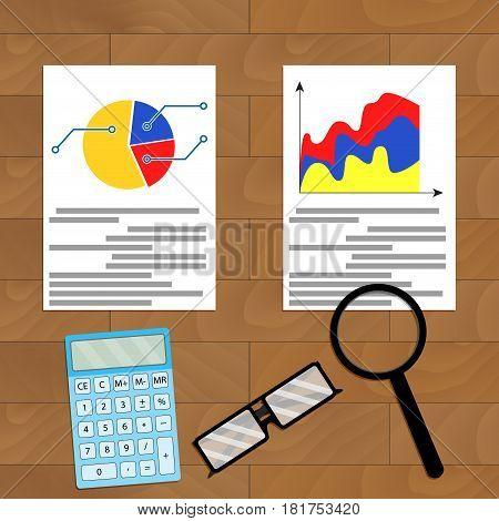 Comparing statistics. Vector infographic analytics accounting economy illustration