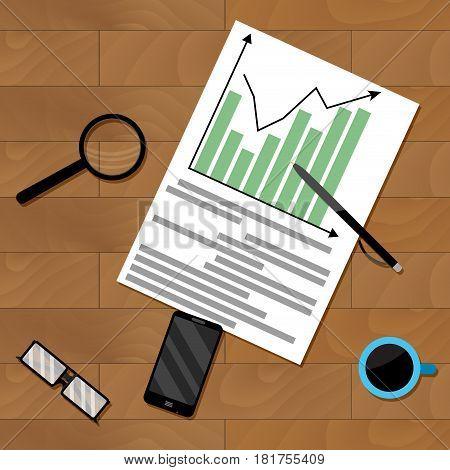 Infochart strategy paperwork vector financial organization chart illustration