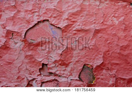 Background. Old paint. Cracks and stains. Chipped.