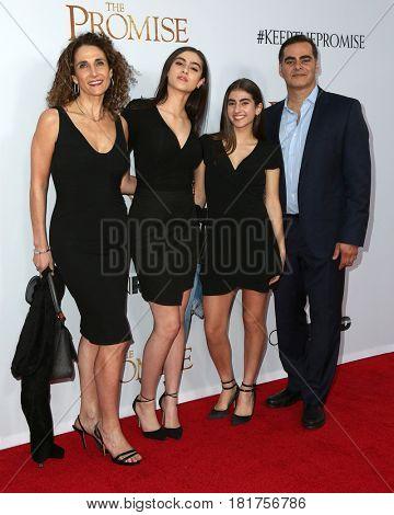LOS ANGELES - APR 12:  Melina Kanakaredes, daughters, husband at the
