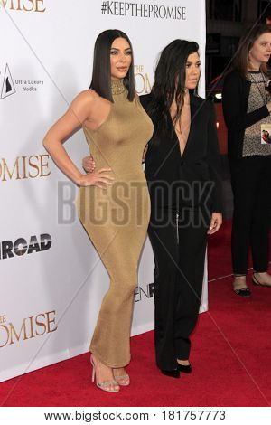 LOS ANGELES - APR 12:  Kim Kardashian, Kourtney Kardashian at the