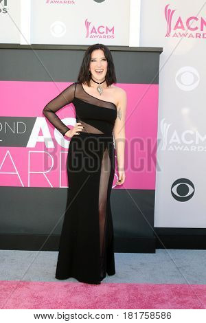 LAS VEGAS - APR 2:  Aubrie Sellers at the Academy of Country Music Awards 2017 at T-Mobile Arena on April 2, 2017 in Las Vegas, NV
