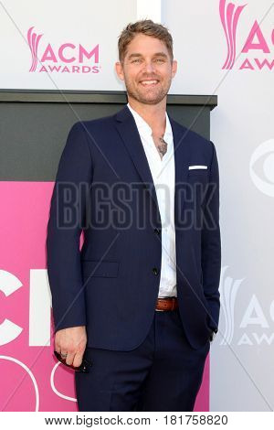 LAS VEGAS - APR 2:  Brett Young at the Academy of Country Music Awards 2017 at T-Mobile Arena on April 2, 2017 in Las Vegas, NV