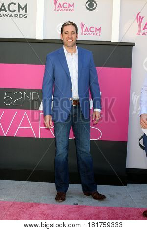LAS VEGAS - APR 2:  Elliott Sadler at the Academy of Country Music Awards 2017 at T-Mobile Arena on April 2, 2017 in Las Vegas, NV