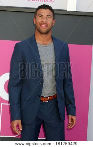 LAS VEGAS - APR 2:  Bubba Wallace at the Academy of Country Music Awards 2017 at T-Mobile Arena on April 2, 2017 in Las Vegas, NV