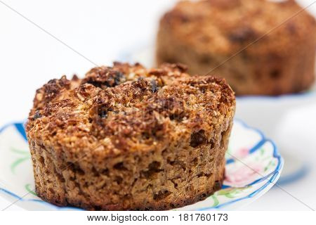 Wheat bran muffins preparation : Just baked integral wheat bran muffins