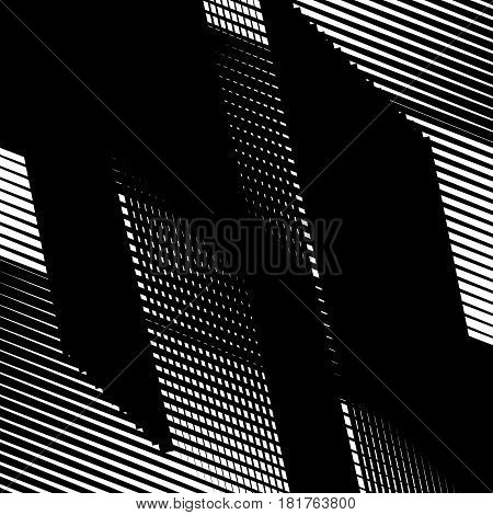 Random Intersecting Lines Abstract Geometric Pattern. Random Grid, Mesh Texture
