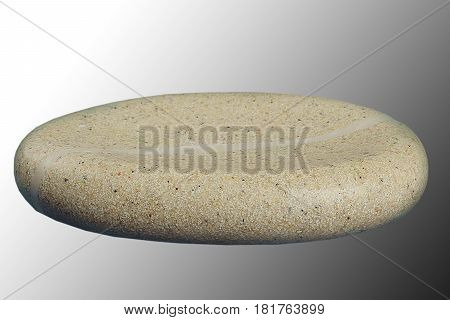 Empty ceramic soap-dish on background, front view