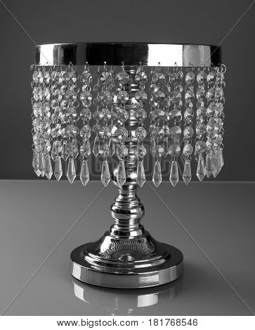 Luxury cake stand with crystals for beautiful and delicious cake and pastries