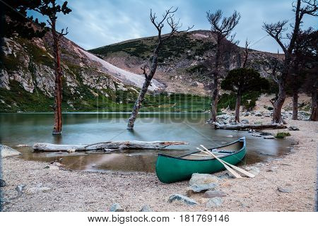 Mountain lake in the Colorado high country.