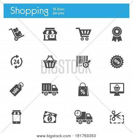 Shoping vector icon, Store vector icon, Market vector icon