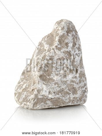 Round stone isolated on a white background