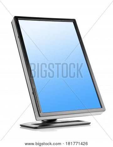 Liquid-crystal monitor isolated on a white background