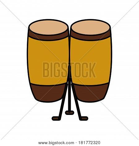 bongo musical instrument icon vector illustration design