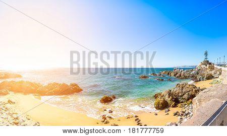 Coastline In Vina Del Mar, Chile