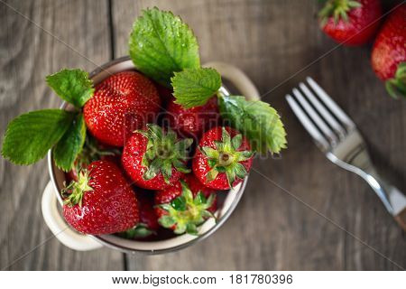 Fresh ripe strawberries. Close-up