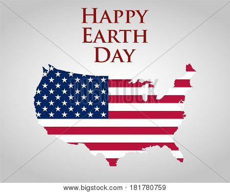Earth Day in the United States. Vector illustration
