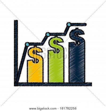 bars statistics isolated icon vector illustration design