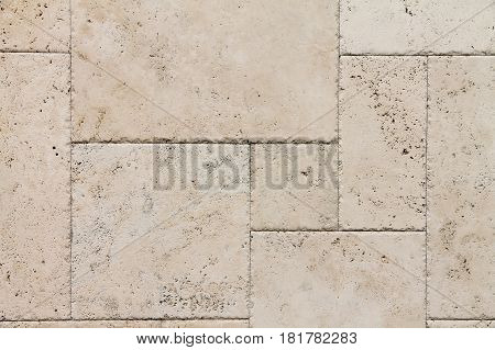 the natural Italian stone. Smooth travertine surface