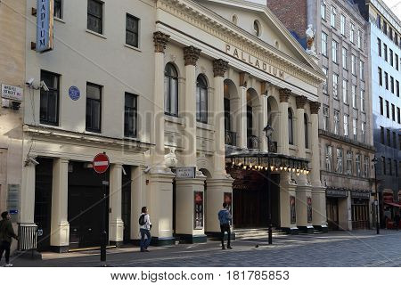 LONDON, GREAT BRITAIN - SEPTEMBER 21, 2014: The Palladium Theater is one of the most famous theaters in the United Kingdom.