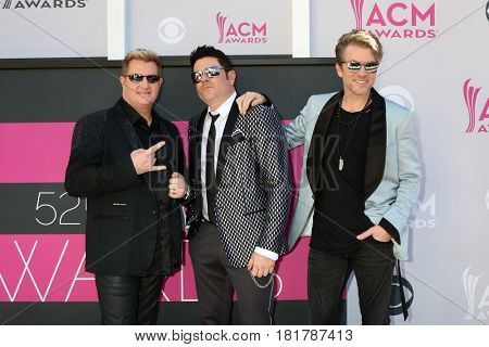 LAS VEGAS - APR 2:  Jay DeMarcus, Gary LeVox, Joe Don Rooney at the Academy of Country Music Awards 2017 at T-Mobile Arena on April 2, 2017 in Las Vegas, NV