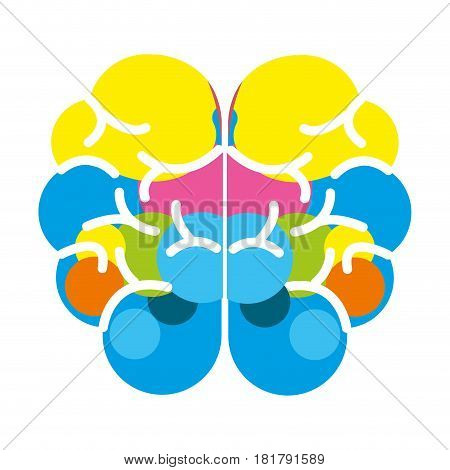 mental health brain art icon, vector illustration