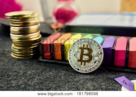 Colorful Bitcoin Concept