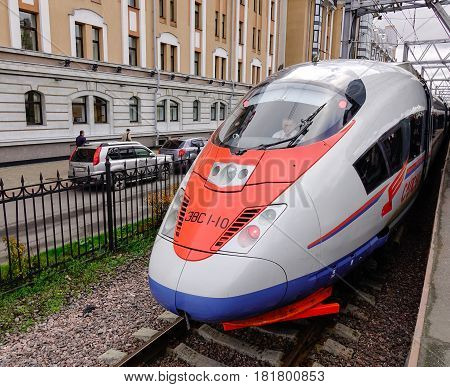Railway In Saint Petersburg, Russia