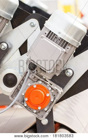 Detail Of Electric Engine, Part Of Electrical Machinery, Technology Concept