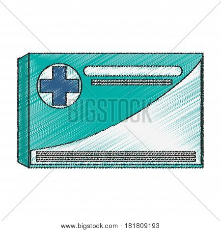 Medical history icon. Medical health care hospital and emergency theme. Isolated design. Vector illustration