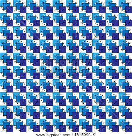 Abstract Image Of Blue Squares Arranged In A Seamless Performanc