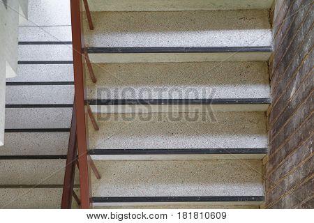 terrazzo floor stairs walkway top view .