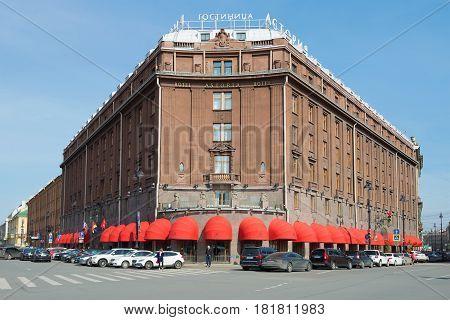SAINT PETERSBURG, RUSSIA - APRIL 10, 2017: Hotel