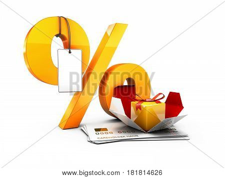 Special Discount Template For Sale Banner, Poster, Flyer, Shop, Online Store. 3D Illustration Isolat