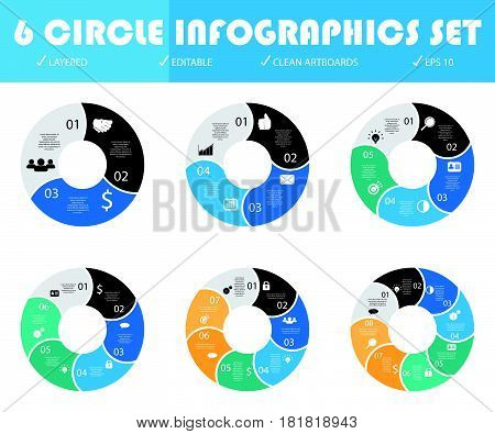 Abstract 3D digital infographic. Vector infographic can be used for layout. Infographic for web. Infographic for template. Infographic for brochure and business. Infographic business design. Infographic number and diagram. Infographic illustration.