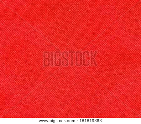 Red Nonwoven Polypropylene Fabric Texture Background