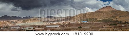 Panorama of the city Potosi Altiplano Bolivia