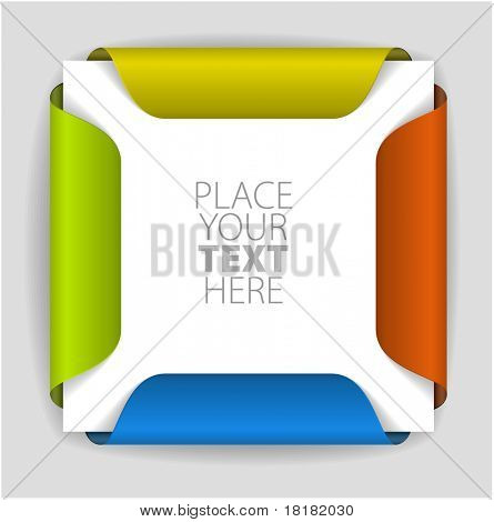 Colorful paper card holder with place for yout content