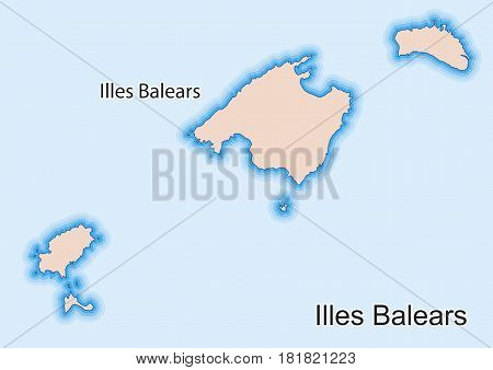 Map Of The Spanish Autonomous Community Of Illes Balears