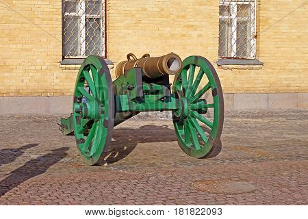 Cannon in the famous Kyiv fortress, Ukraine